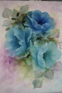 Flowers in Blue